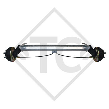 Braked tandem rear axle 1350kg BASIC axle type B 1200-6 with AAA (automatic adjustment of the brake pads)