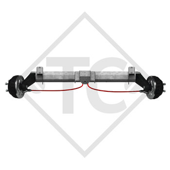 Braked tandem front axle 1350kg PLUS axle type B 1200-5 with top hat profile 90mm