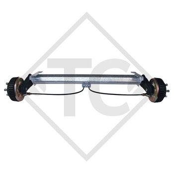 Eje trasero tándem con freno 1500kg BASIC tipo de eje B 1600-3 con AAA (Reajuste automático de las zapatas de freno)