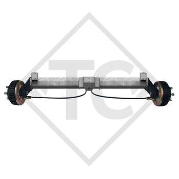 Tandem Vorderachse gebremst 1500kg BASIC Achstyp B 1600-3 mit Hutprofil 130mm und AAA (Automatische Nachstellung der Bremsbeläge)
