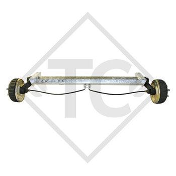 Tandem Hinterachse gebremst 1600kg BASIC Achstyp B 1600-1 mit AAA (Automatische Nachstellung der Bremsbeläge)
