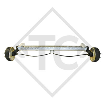 Braked tandem rear axle 1600kg BASIC axle type B 1600-1 with AAA (automatic adjustment of the brake pads)
