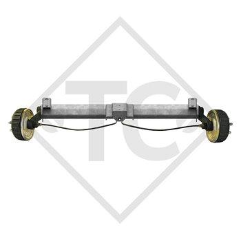 Tandem Vorderachse gebremst 1600kg BASIC Achstyp B 1600-1 mit Hutprofil 130mm und AAA (Automatische Nachstellung der Bremsbeläge)