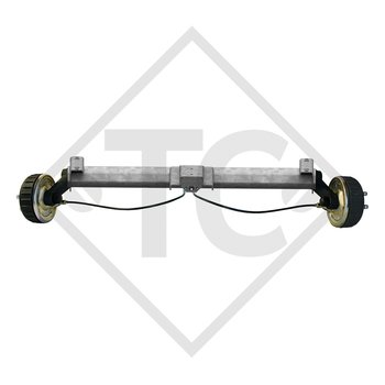 Braked axle 1800kg BASIC axle type B 1800-9 with top hat profile 130mm and AAA (automatic adjustment of the brake pads)