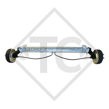 Braked axle 1800kg PLUS axle type B 1800-9 with shock absorber bracket