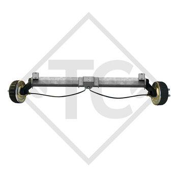 Achse gebremst 1800kg PLUS Achstyp B 1800-9 mit Hutprofil 130mm und AAA (Automatische Nachstellung der Bremsbeläge)