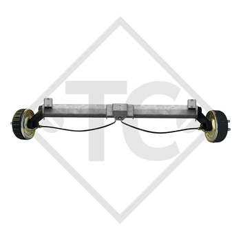 Braked axle 1800kg PLUS axle type B 1800-9 with top hat profile 130mm with AAA (automatic adjustment of the brake pads)