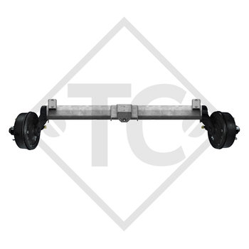 Braked tandem front axle 2500kg PLUS axle type B 2500-8 with top hat profile 130mm