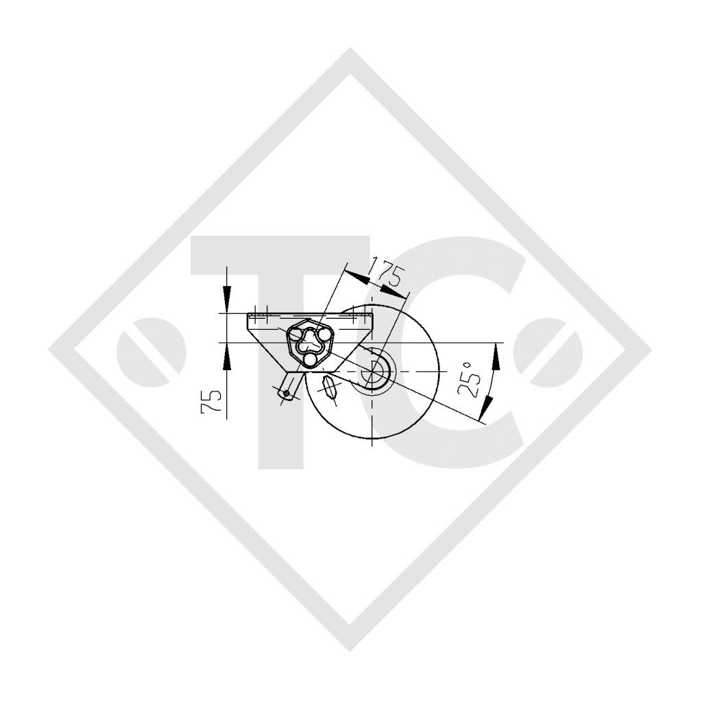Achse gebremst 3000kg PLUS Achstyp B 3000-2