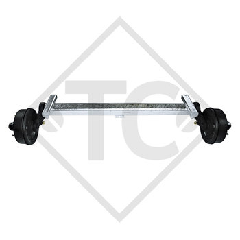 Braked axle 3000kg PLUS Achstyp B 3000-2 with top hat profile 130mm