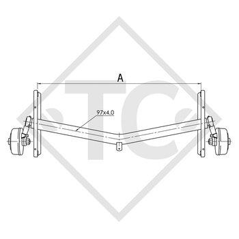 Braked axle 1700kg EURO1 axle type DELTA SIN 14-3