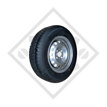 Wheel 145/80-10 S-255 with rim 3.50x10