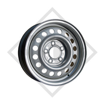 Llanta de aluminio para remolque 6.00Jx13 H2, 5/67/112, ET +30