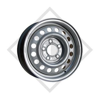 Llanta de aluminio para remolque 5.50Jx14 H2, 5/66.6/112, ET +30