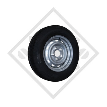 Wheel 145R12C UE-168 with rim 4.50Jx12