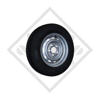 Wheel 195R14C 203 M+S with rim 6.00x14