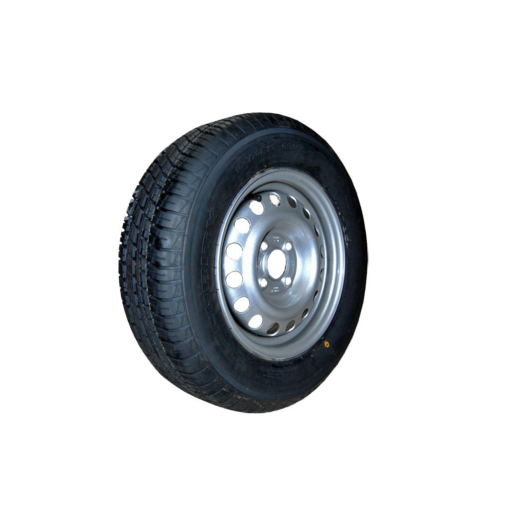 WHEEL AND TYRE PACKAGE, COMPLETE, TYRE SIZE 8 INCH