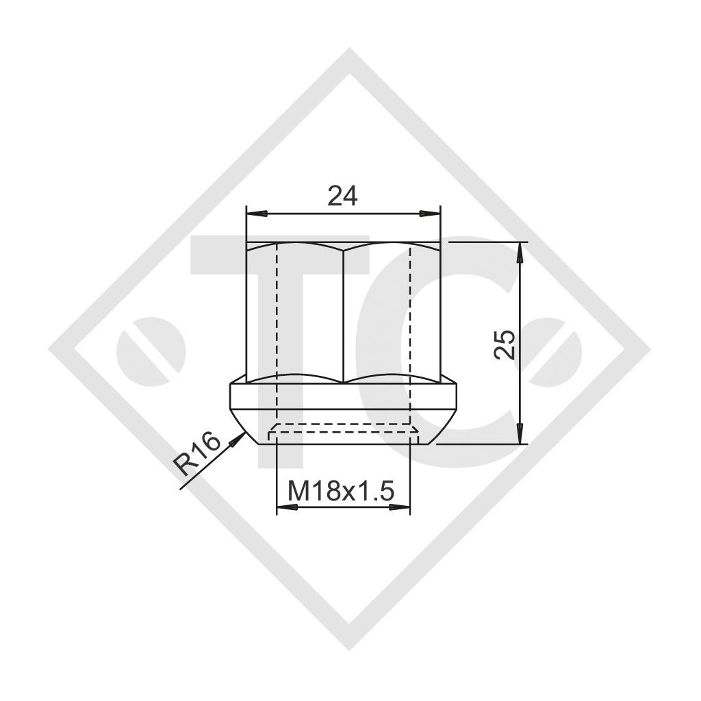 BILLSTEIN Radmutter M18x1.5 Kugel