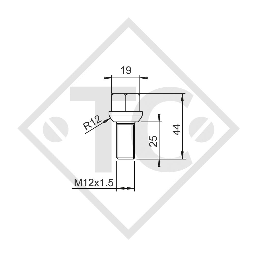 Original ball-head wheel bolt M12x1.5, set of 8 pieces