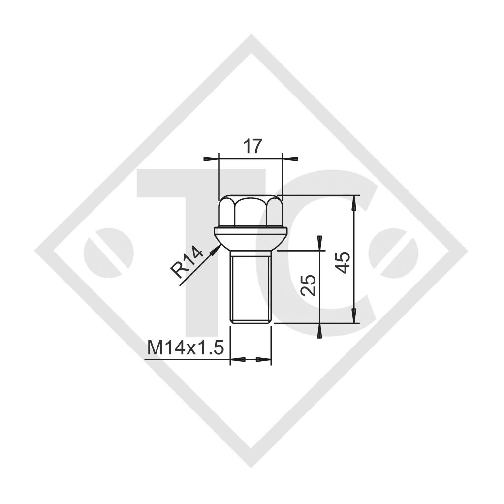 BILLSTEIN ball-head wheel bolt M14x1.5, set of 8 pieces