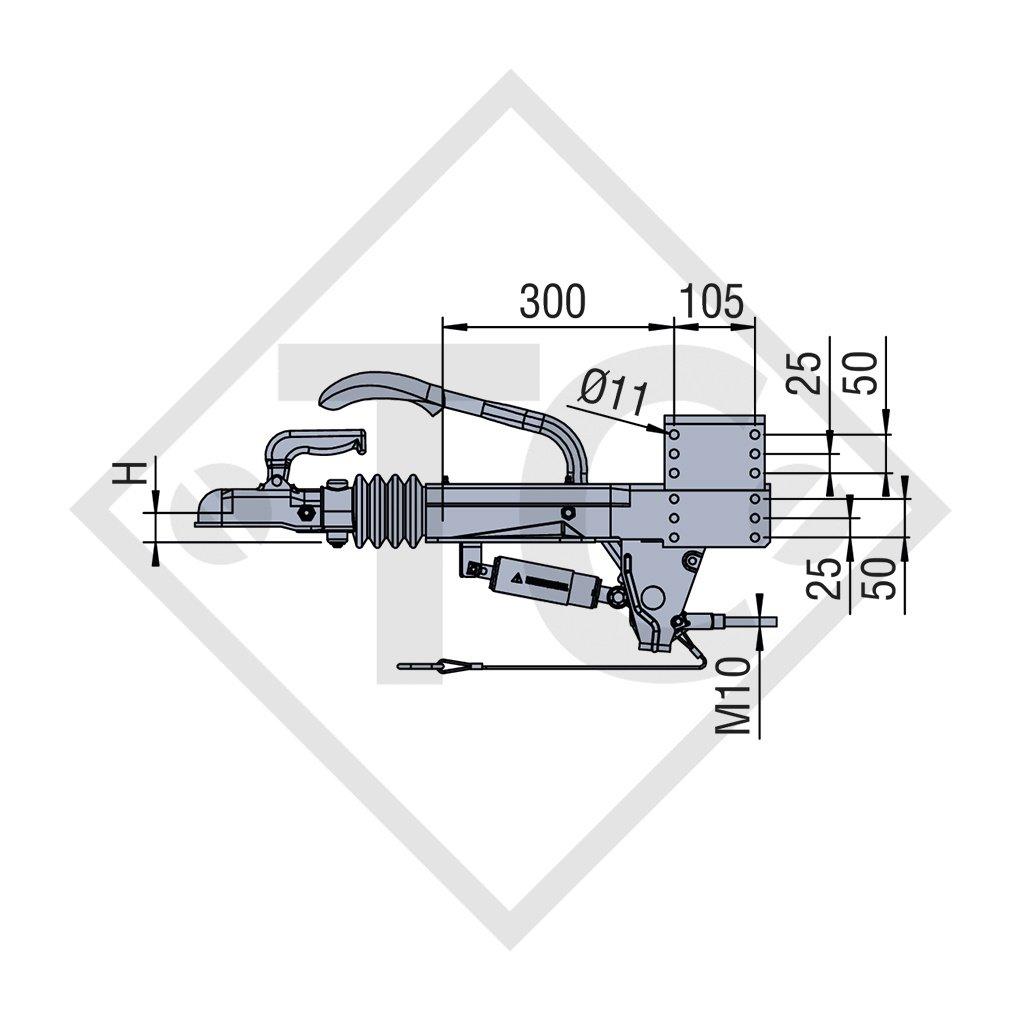 Auflaufeinrichtung V Typ  ZAF 2,0-3, 1250 bis 2000kg