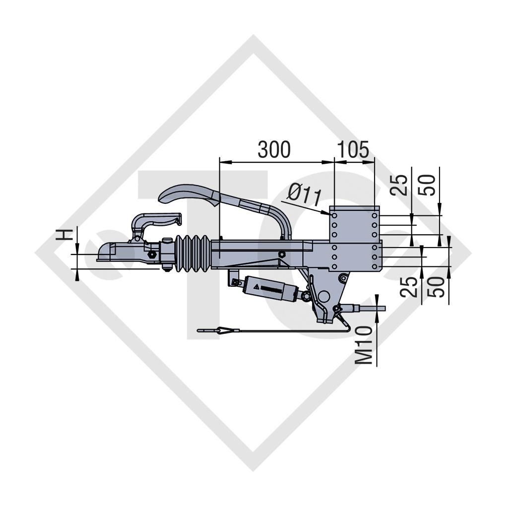 Overrun device V type  ZAF 2,0-3, 1250 to 2000kg