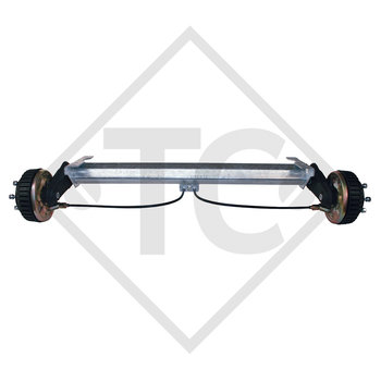 Braked tandem rear axle 1500kg EURO COMPACT axle type B 1600-3