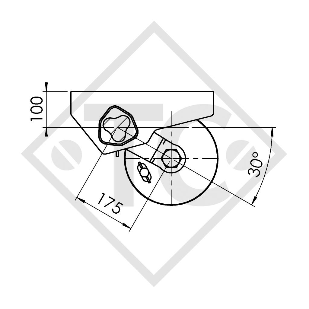 Achse gebremst 1800kg PLUS Achstyp B 1800-9