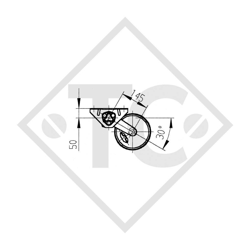 Braked axle 750kg BASIC axle type B 700-5