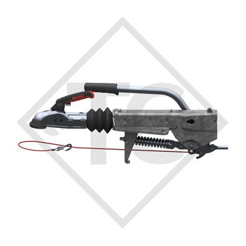Overrun device V type 251S, 1500 to 2700kg, slack point handbrake lever, without clamp