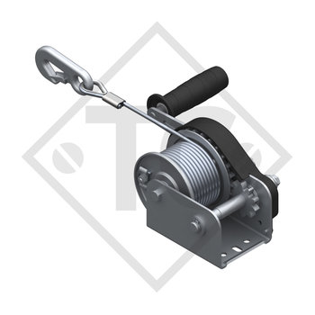 Cable winch PLUS 350kg, type 351 with automatic weight brake, without automatic unwinder, fitted with 15 meter cable for lifting