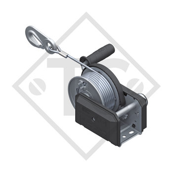 Cable winch PLUS 500kg, type 501 with automatic weight brake, without automatic unwinder, fitted with 20 meter cable for lifting