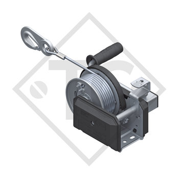 Cable winch PLUS 500kg, type 501 with automatic weight brake, with automatic unwinder, fitted with 20 meter cable for lifting