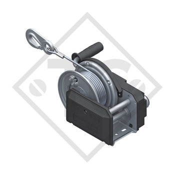 Cable winch PLUS 900kg, type 901 with automatic weight brake, without automatic unwinder, fitted with 20 meter cable for lifting