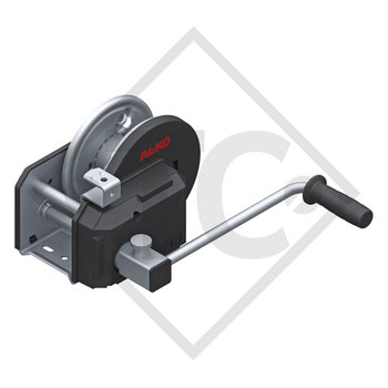 Cable winch PLUS 900kg, type 901 with automatic weight brake, with automatic unwinder, without cable/band
