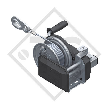 Cable winch PLUS 900kg, type 901 with automatic weight brake, with automatic unwinder, fitted with 12.5 meter cable for lifting