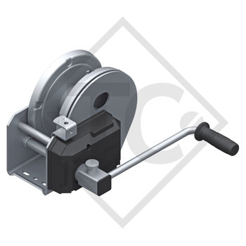 Cable winch PLUS 1150kg, type 1201 with automatic weight brake, with automatic unwinder, without cable/band