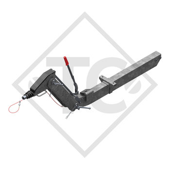 Overrun device height-adjustable 251 VB-2 OPTIMA with drawbar section cranked 1425 to 2700kg