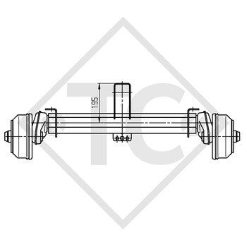 HUMBAUR Braked axle 1350kg EURO COMPACT axle type B 1200-6