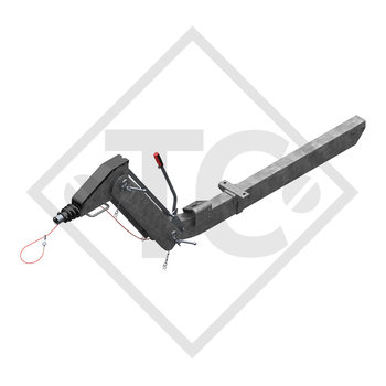 Overrun device height-adjustable 161 VB-2 OPTIMA with drawbar section cranked 850 to 1600kg