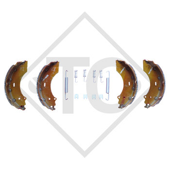 Brake shoes, wheel brake 2360 and 2361, brake size 230x60mm