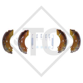 Brake shoes, wheel brake 2360 and 2361, brake size 230x60mm