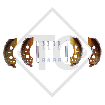 Brake shoes, wheel brake 2050 and 2051, brake size 200x50mm