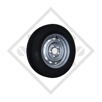 Wheel 225/70R15C BK TRAILER 203 M+S with rim 6.00x15