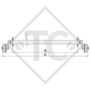 Braked axle 1350kg PLUS axle type B 1200-5, HUMBAUR