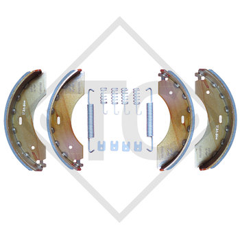 Brake shoes, wheel brake 2350, brake size 230x50mm