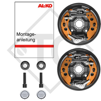 Retrofit set AAA for wheel brake 2051, version with toothed profile with 4 holes