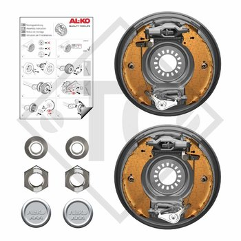 Retrofit set AAA for wheel brake 2361, version with toothed profile with 4 holes