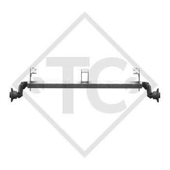 Unbraked axle 750kg BASIC axle type 700-5 with shackle and high axle bracket