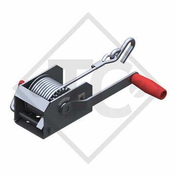 Towing winch BASIC 250kg, type 250 without automatic weight brake, fitted with 6 meter cable for lifting, without packaging